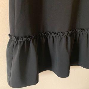 LOFT Dresses - Ann Taylor LOFT Black ruffle flounce casual dress